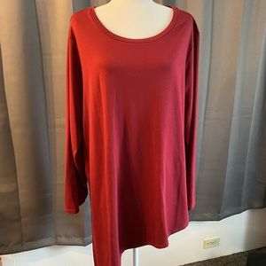 Torrid Active Top Size 3 Burgundy Athletic Tunic